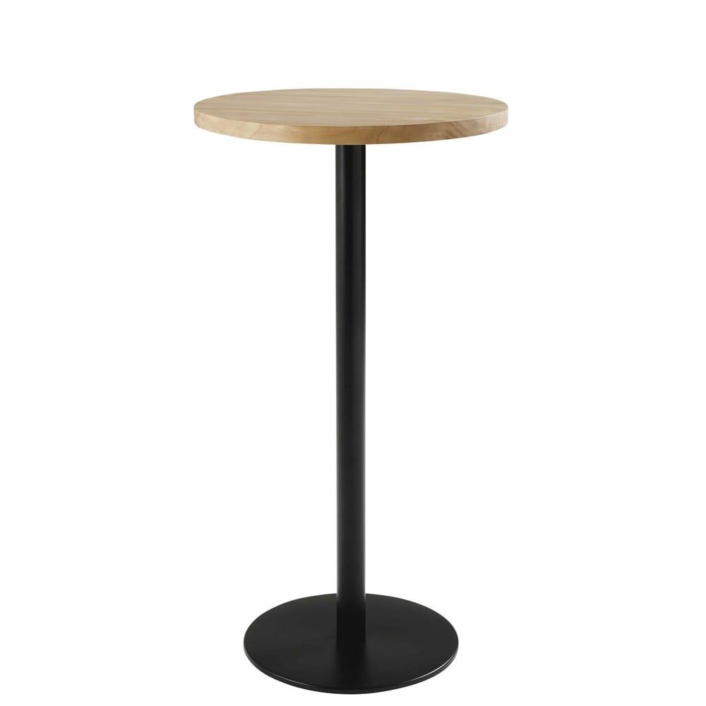 Pied De Table Haute En Métal Noir H100 Iron Pro