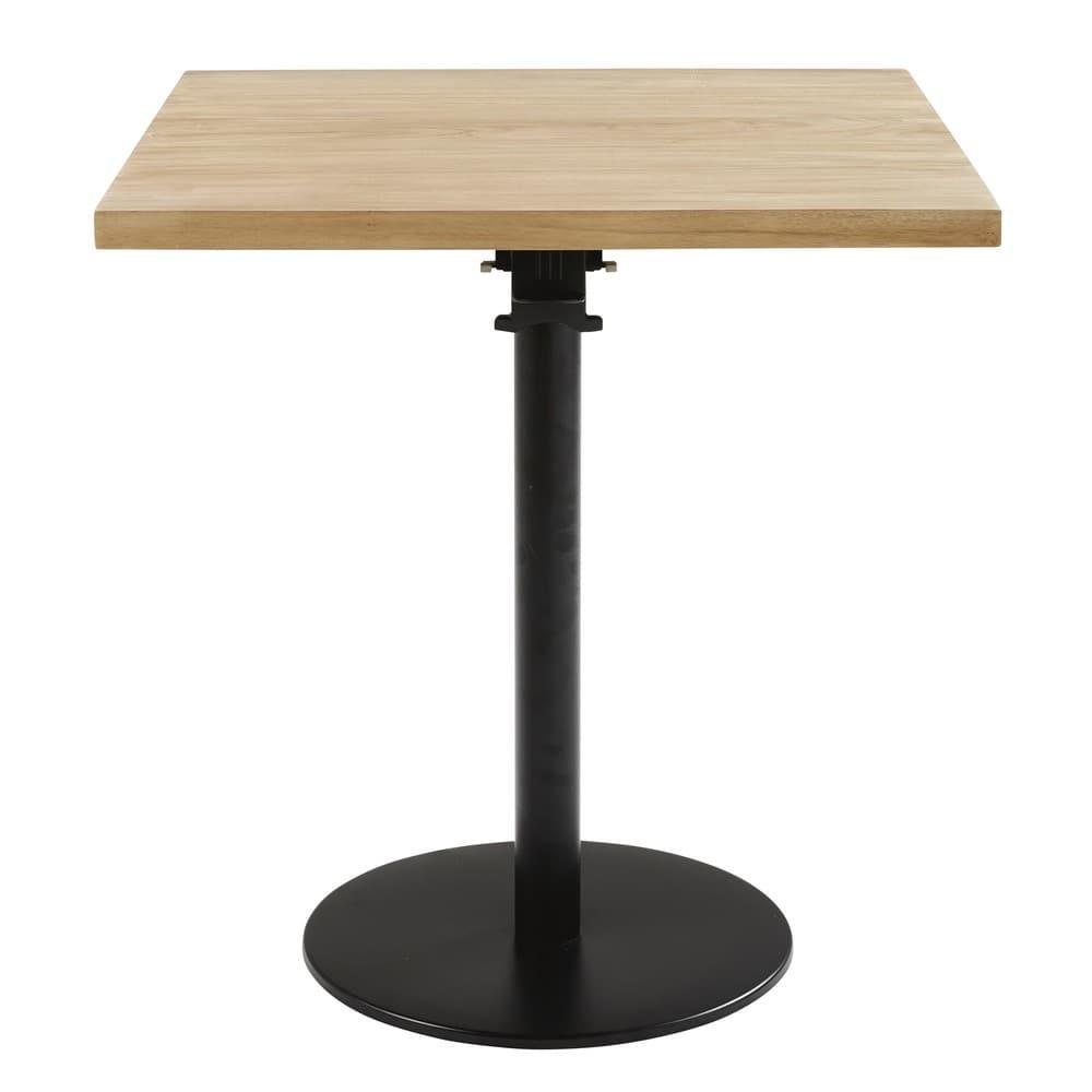 Pied de table rabattable en métal noir H73 Iron Pro   Maisons du Monde 1915eb1bd984