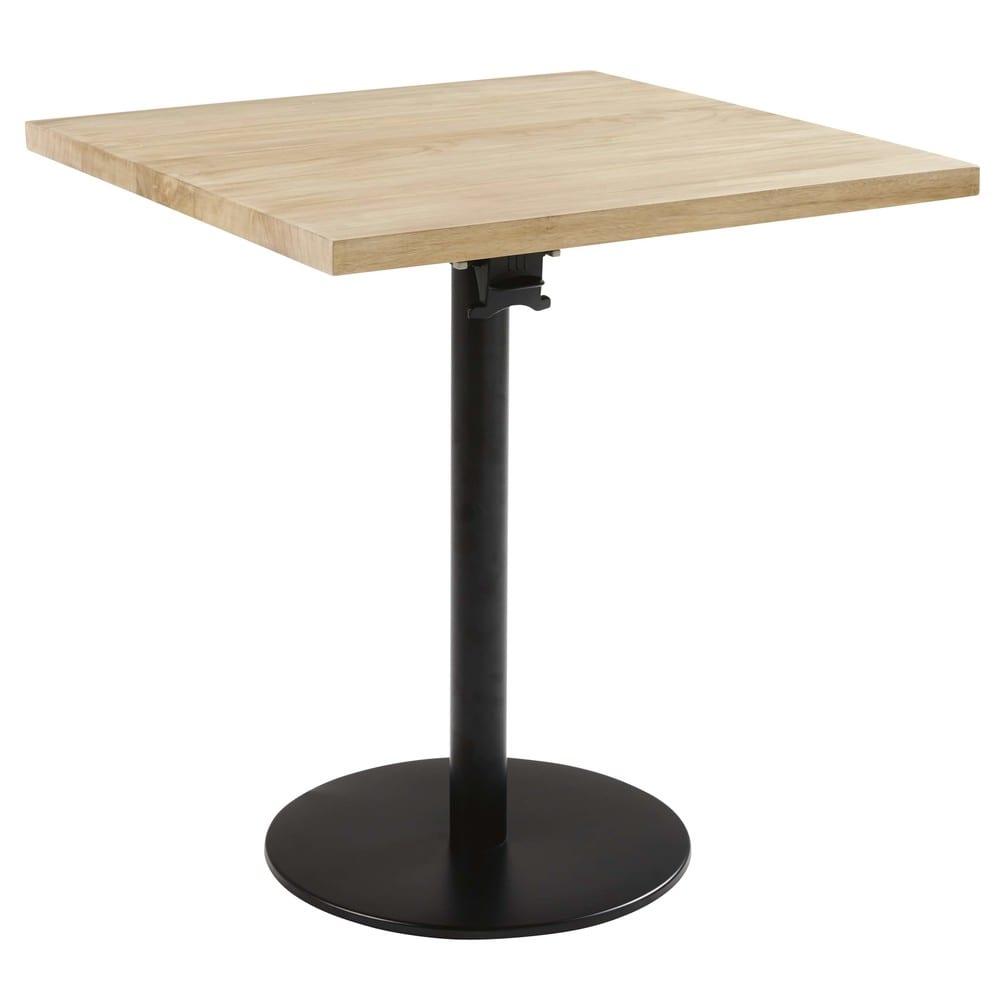 pied de table rabattable en m tal noir h73 iron pro. Black Bedroom Furniture Sets. Home Design Ideas