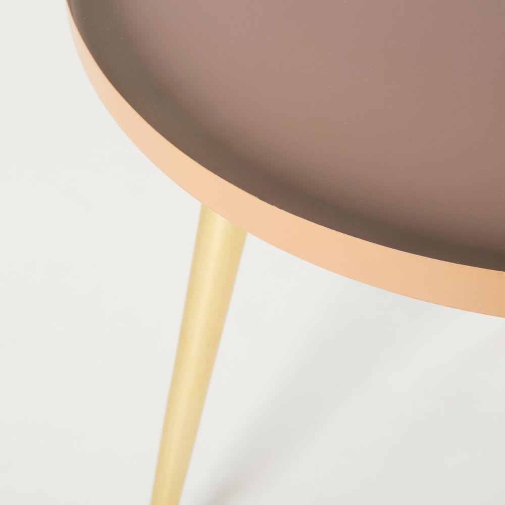 Pink And Gold Metal Side Table