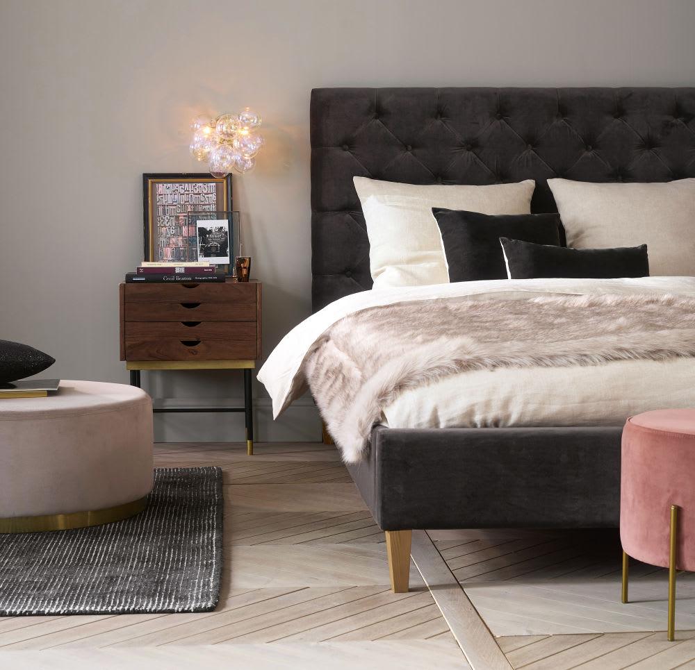 plaid imitation fourrure marron glac 150x180 imeon. Black Bedroom Furniture Sets. Home Design Ideas