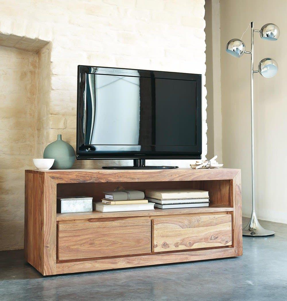 Porta tv a 2 cassetti in massello di legno di sheesham stockholm maisons du monde - Porta tv originali ...