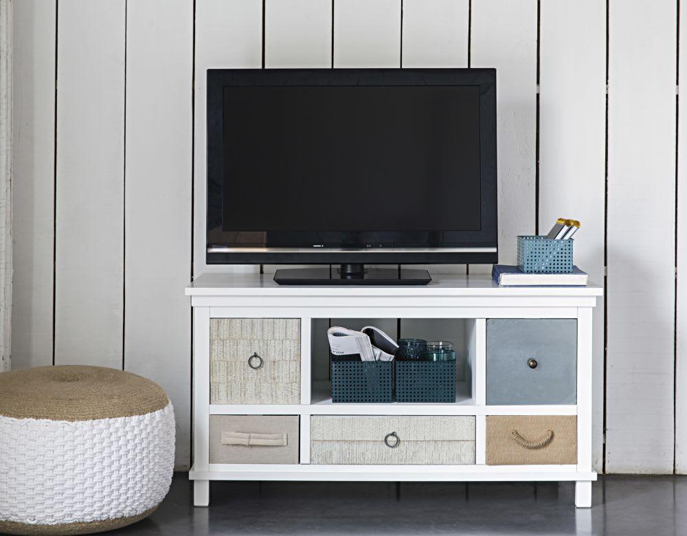 Porta tv bianco in legno l cm ouessant maisons du monde