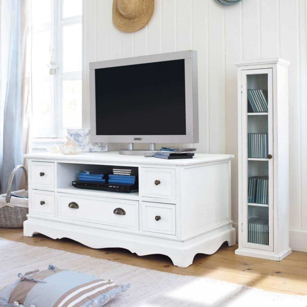 Porta tv bianco in paulonia jos phine maisons du monde - Porta tv originali ...