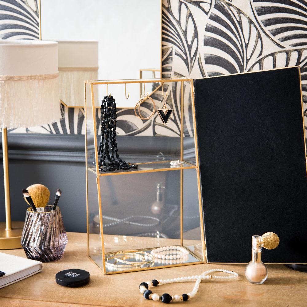 porte bijoux en m tal dor et miroir glassy maisons du monde. Black Bedroom Furniture Sets. Home Design Ideas