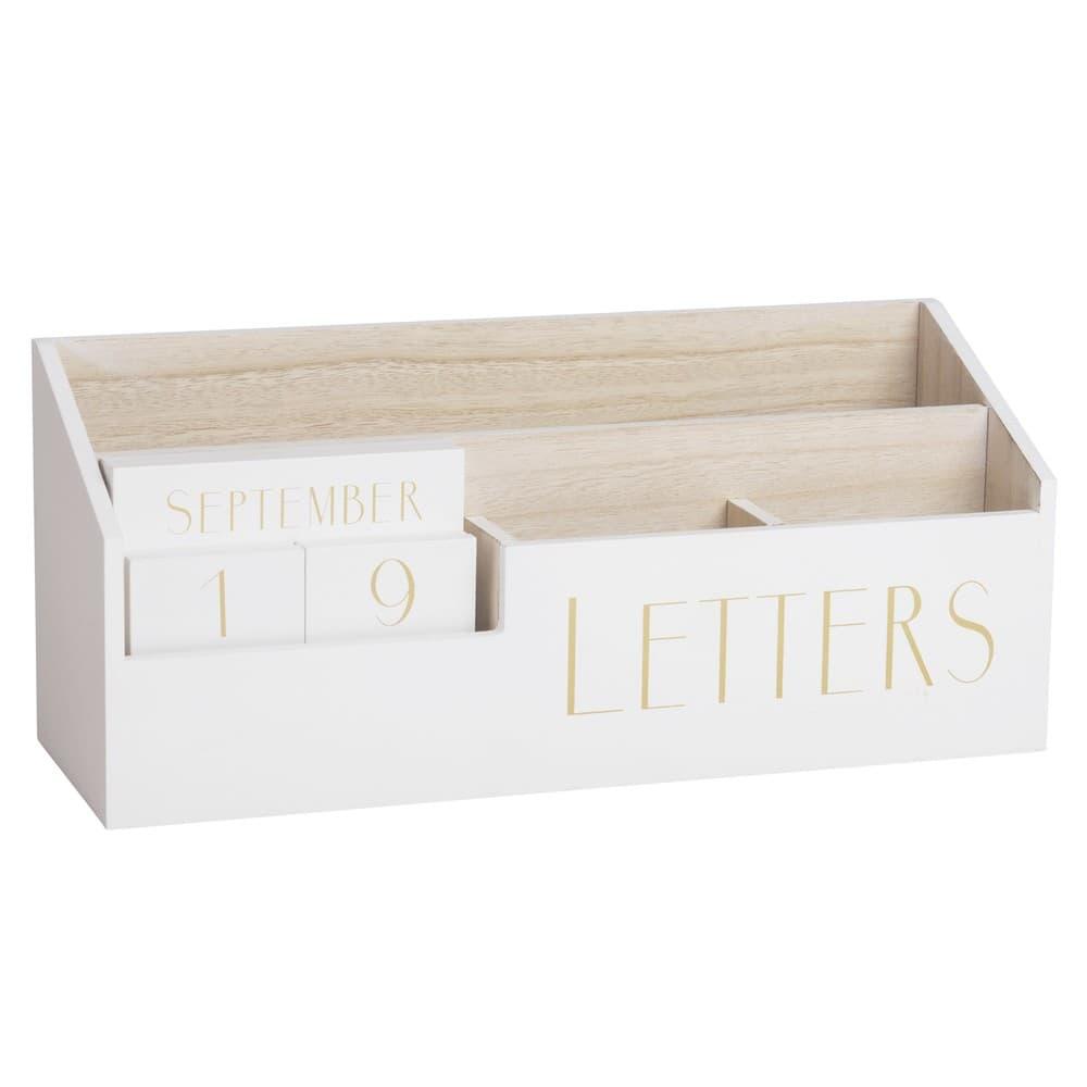 Porte courrier calendrier perp tuel blanc letters maisons du monde - Porte courrier ...
