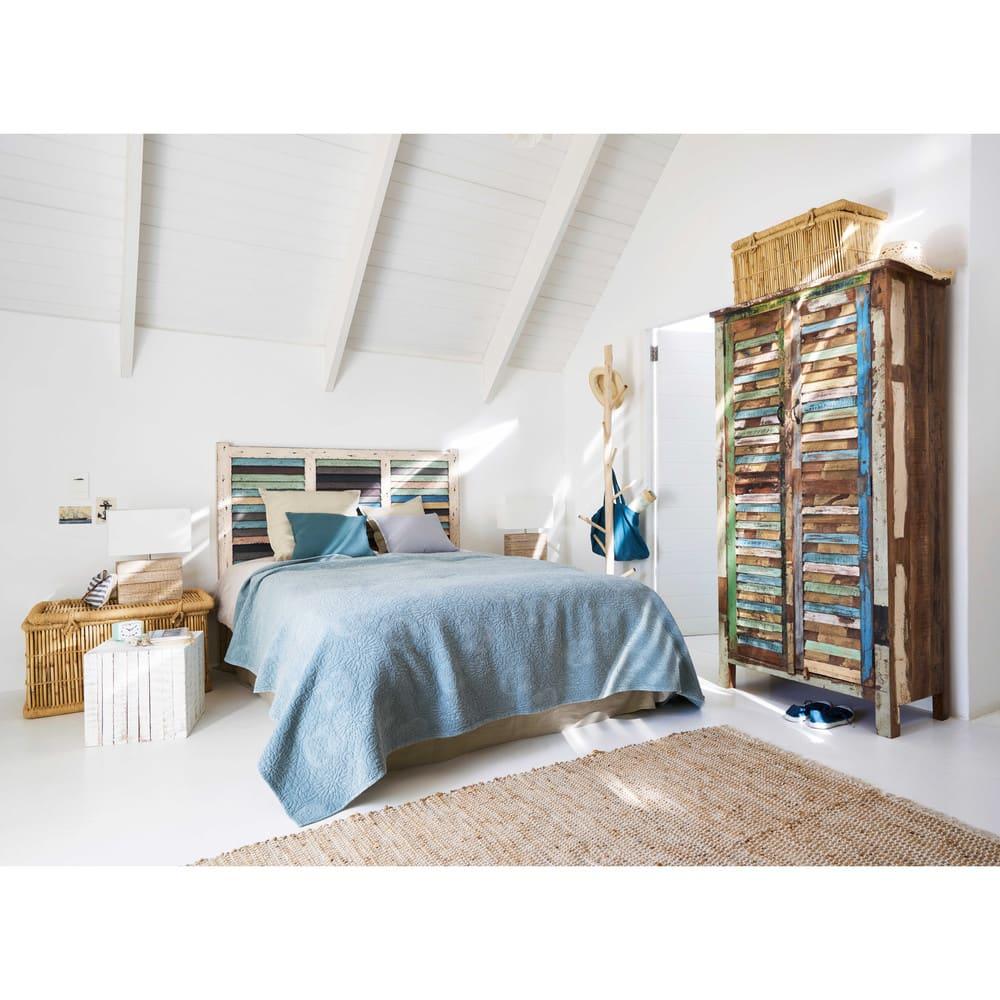 porte manteau tronc d 39 arbre en eucalyptus et m tal blanc. Black Bedroom Furniture Sets. Home Design Ideas