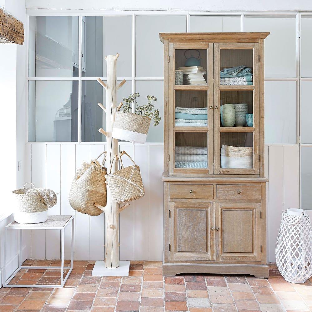 porte manteau tronc en mangoustanier lucio maisons du monde. Black Bedroom Furniture Sets. Home Design Ideas