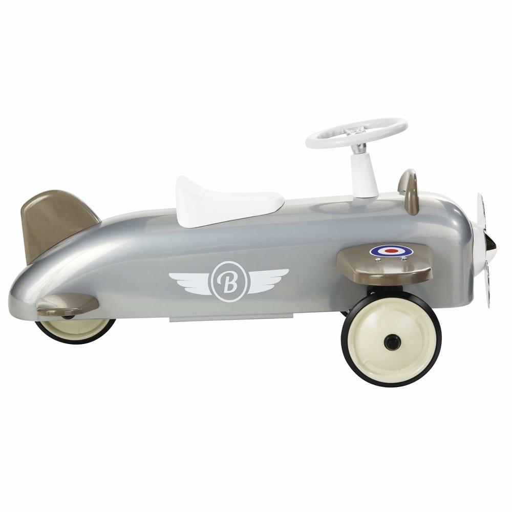 Porteur avion en métal gris Baghera   Maisons du Monde 8b60d123ceb