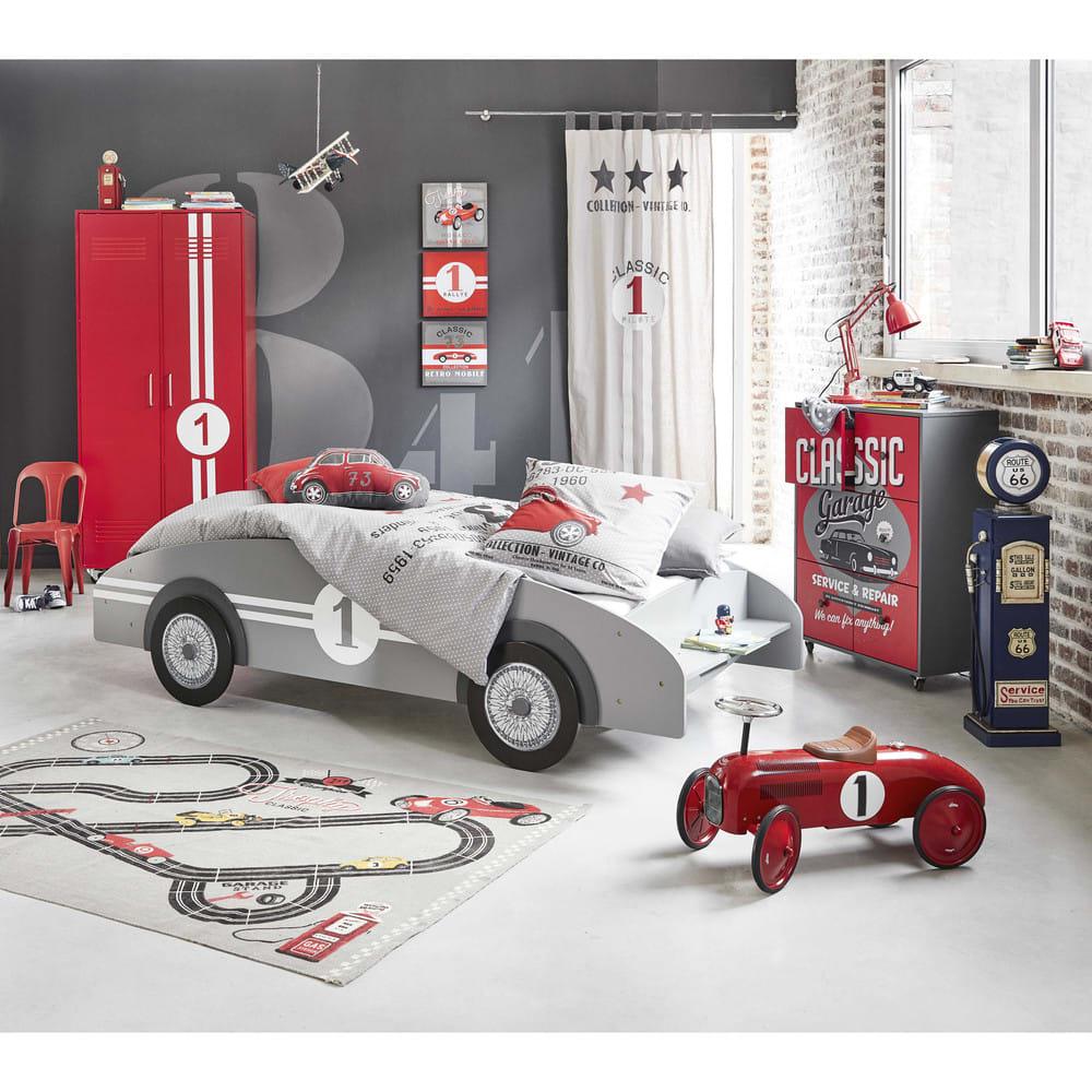 Porteur voiture en métal rouge L 76 cm Vilac   Maisons du Monde 36f00868530