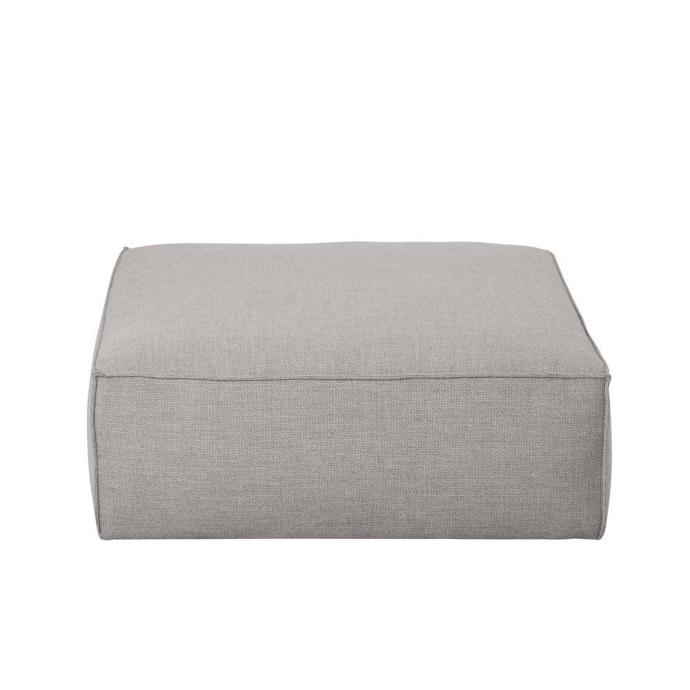 Pouf per divano grigio Fakir   Maisons du Monde