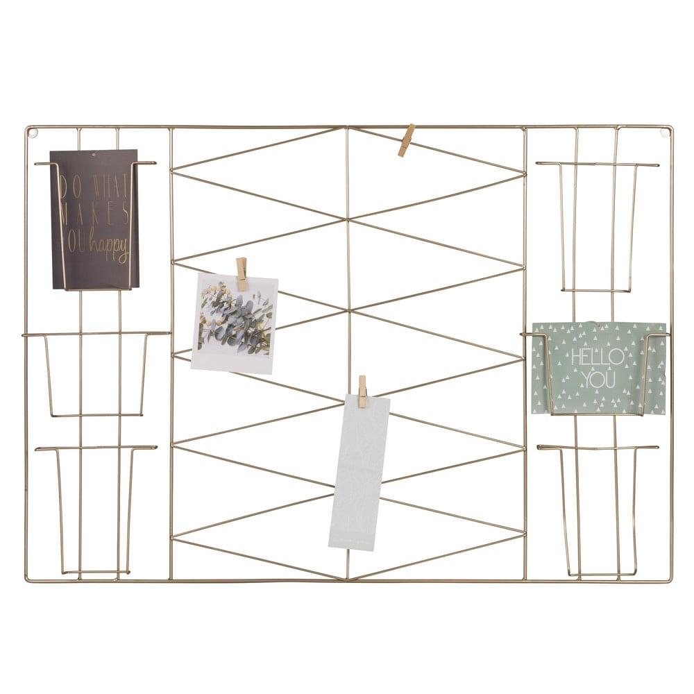 pr sentoir cartes p le m le en m tal dor 72x50 bonnie. Black Bedroom Furniture Sets. Home Design Ideas