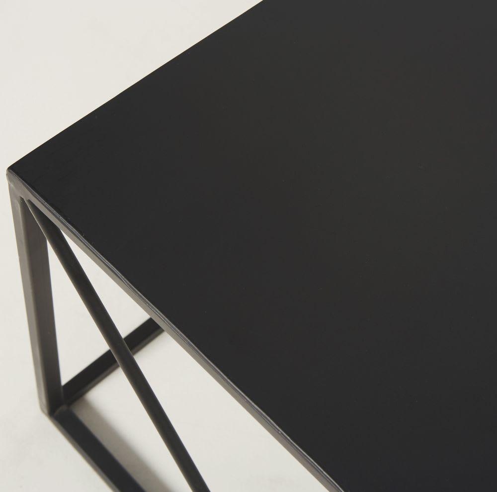 quadratischer couchtisch aus metall schwarz edwin. Black Bedroom Furniture Sets. Home Design Ideas