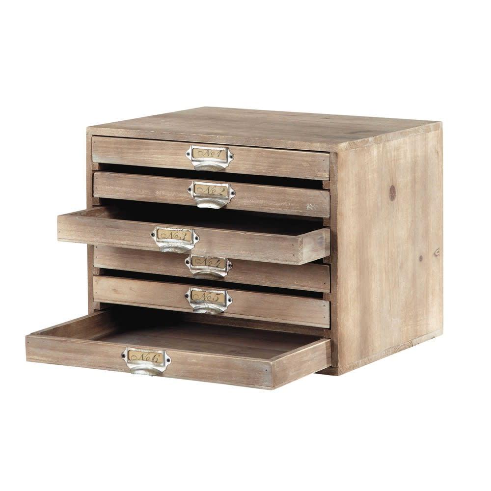 range courrier 6 tiroirs antoine maisons du monde. Black Bedroom Furniture Sets. Home Design Ideas
