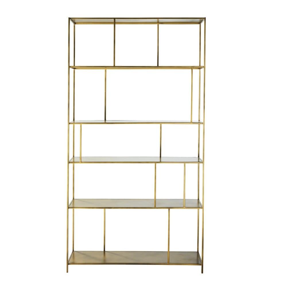 regal aus goldfarbenem metall simply maisons du monde. Black Bedroom Furniture Sets. Home Design Ideas