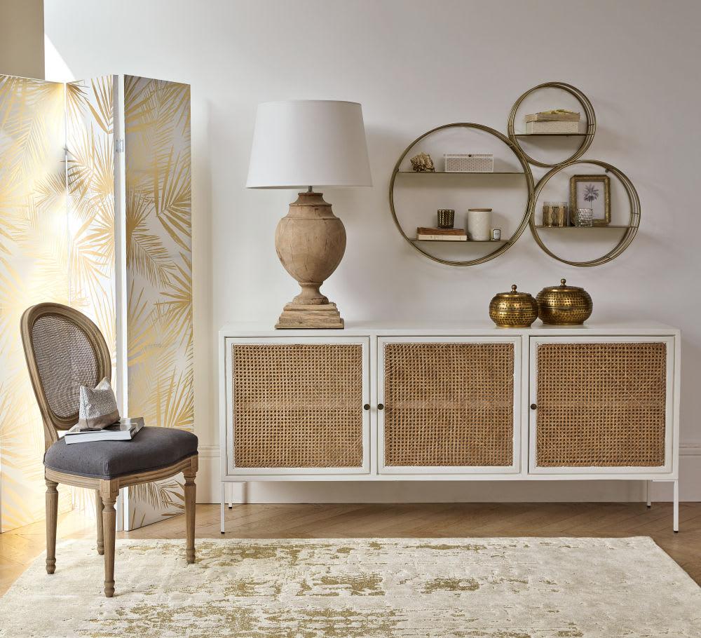 regal aus mattgoldenem metall santa monica maisons du monde. Black Bedroom Furniture Sets. Home Design Ideas