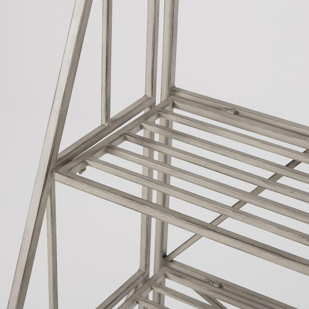 regal aus metall in antikoptik hellgrau jardin d 39 hiver. Black Bedroom Furniture Sets. Home Design Ideas