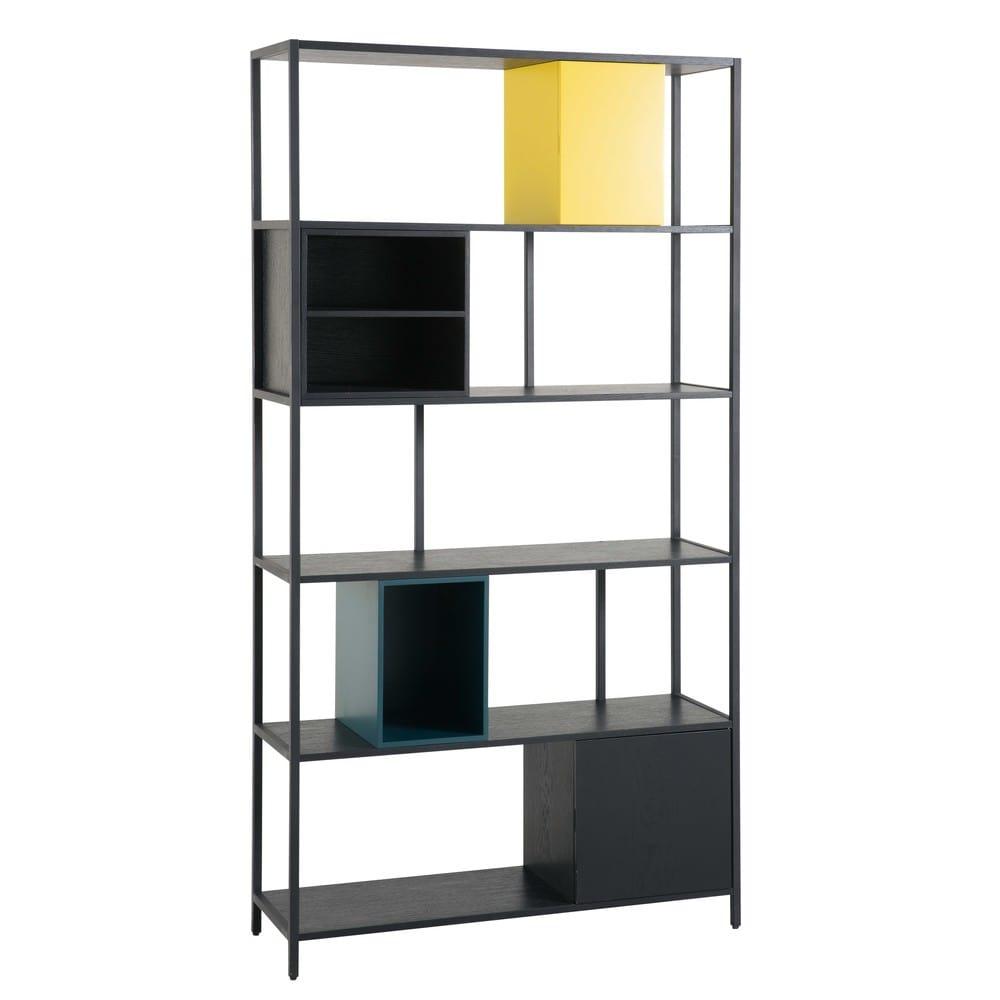 regal aus schwarzem metall opal maisons du monde. Black Bedroom Furniture Sets. Home Design Ideas