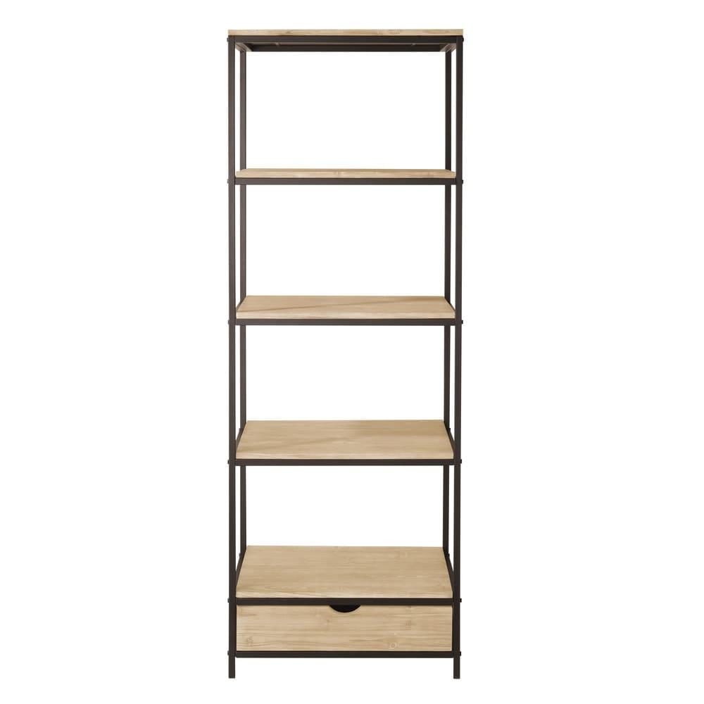 regal im industrial stil aus massivem tannenholz und. Black Bedroom Furniture Sets. Home Design Ideas