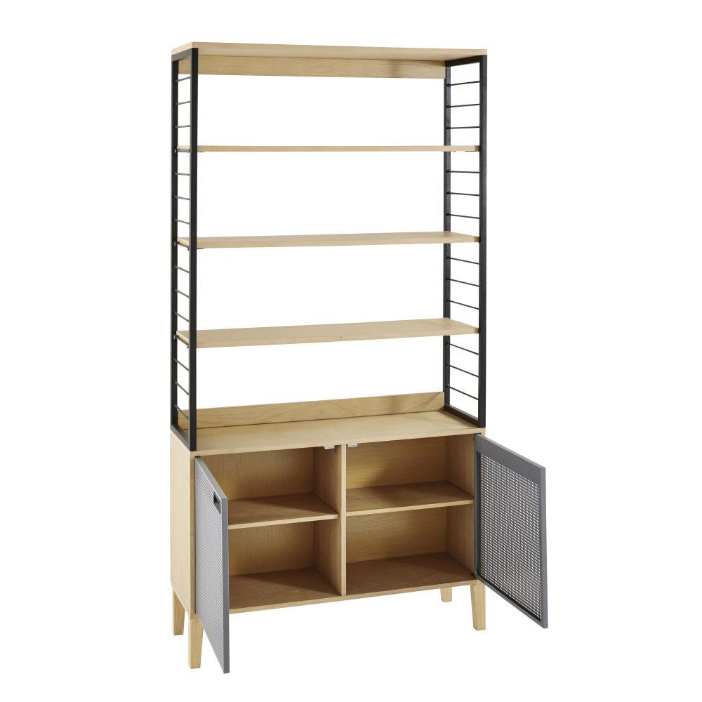regal im industrial stil mit 2 t ren aus metall atelier. Black Bedroom Furniture Sets. Home Design Ideas