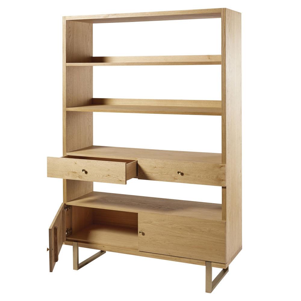 regal mit 2 t ren und 2 schubladen und beinen aus metall. Black Bedroom Furniture Sets. Home Design Ideas
