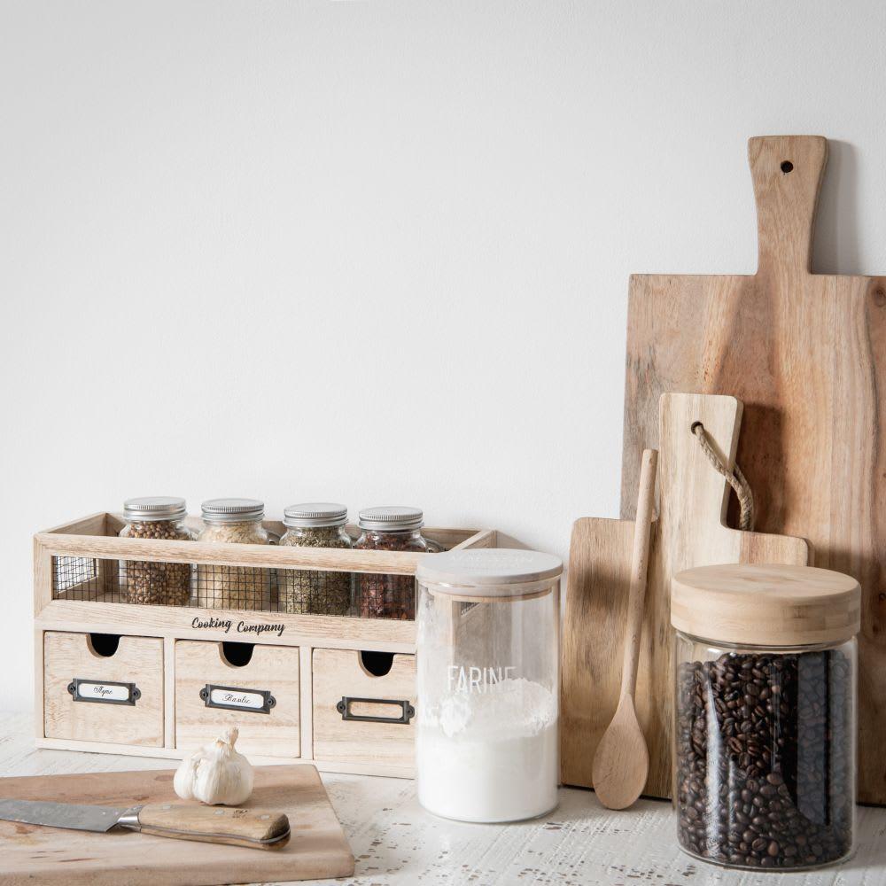 regal mit 3 f chern in paulownia und birke maisons du monde. Black Bedroom Furniture Sets. Home Design Ideas