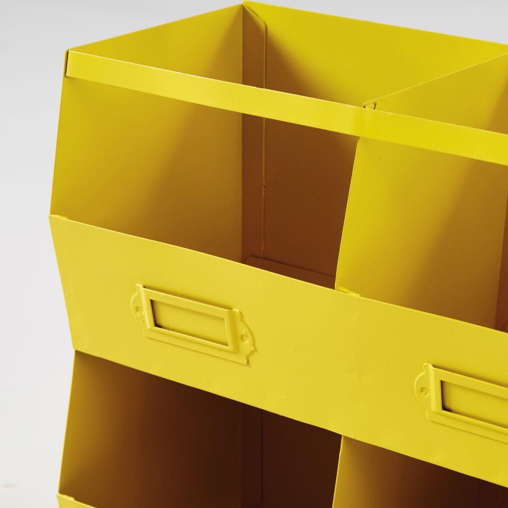 regal mit 6 f chern aus gelbem metall atelier hype. Black Bedroom Furniture Sets. Home Design Ideas