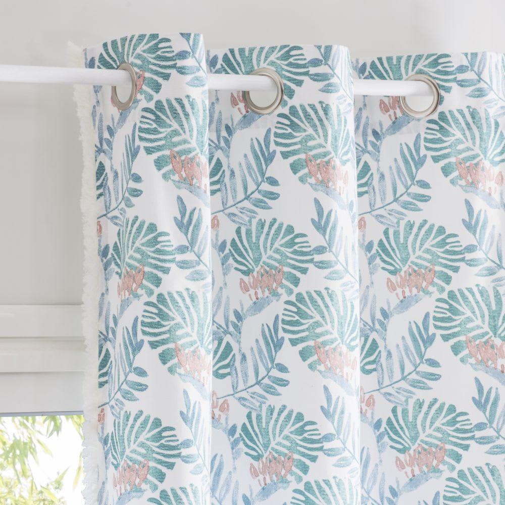 Rideau A œillets En Coton Imprime Tropical A L Unite 110x250