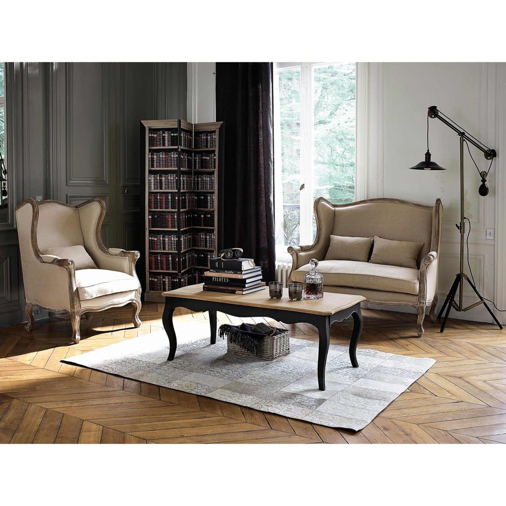 rideau illets en lin lav anthracite l 39 unit 140x300. Black Bedroom Furniture Sets. Home Design Ideas
