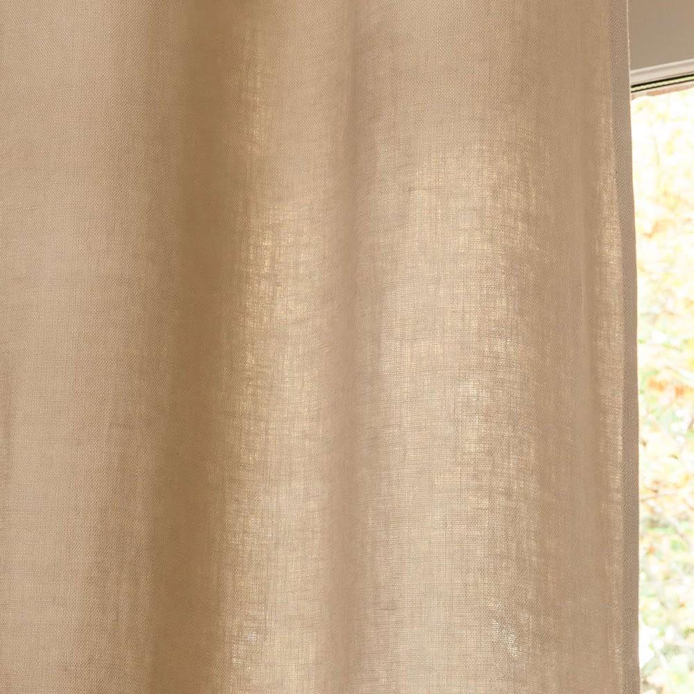 rideau illets en lin lav beige l 39 unit 140x300 maisons du monde. Black Bedroom Furniture Sets. Home Design Ideas