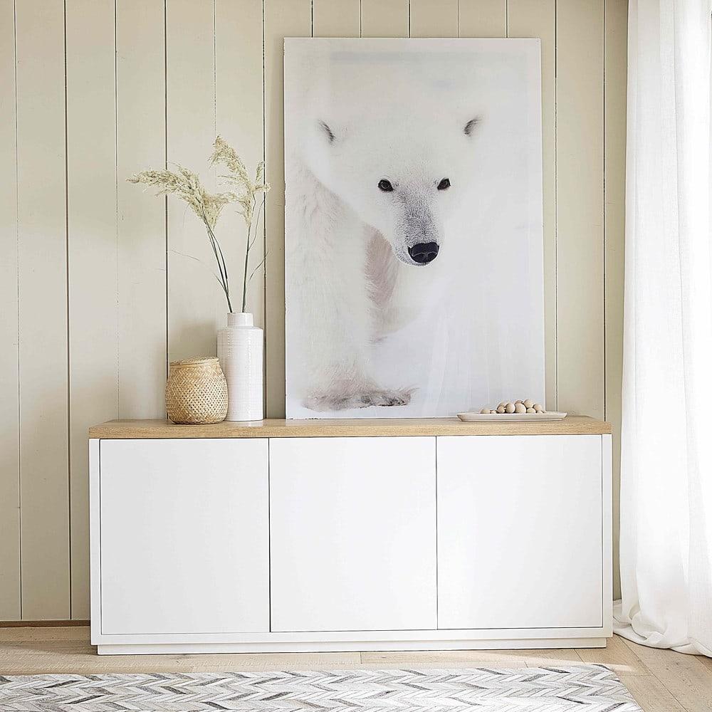 rideau illets en lin lav blanc l 39 unit 130x300. Black Bedroom Furniture Sets. Home Design Ideas