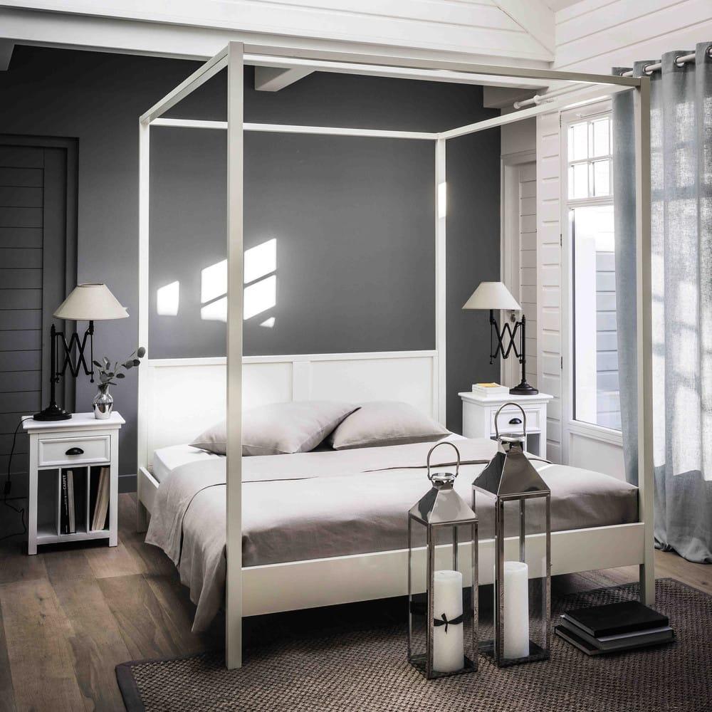 rideau illets en lin lav bleu glacier 130x300. Black Bedroom Furniture Sets. Home Design Ideas