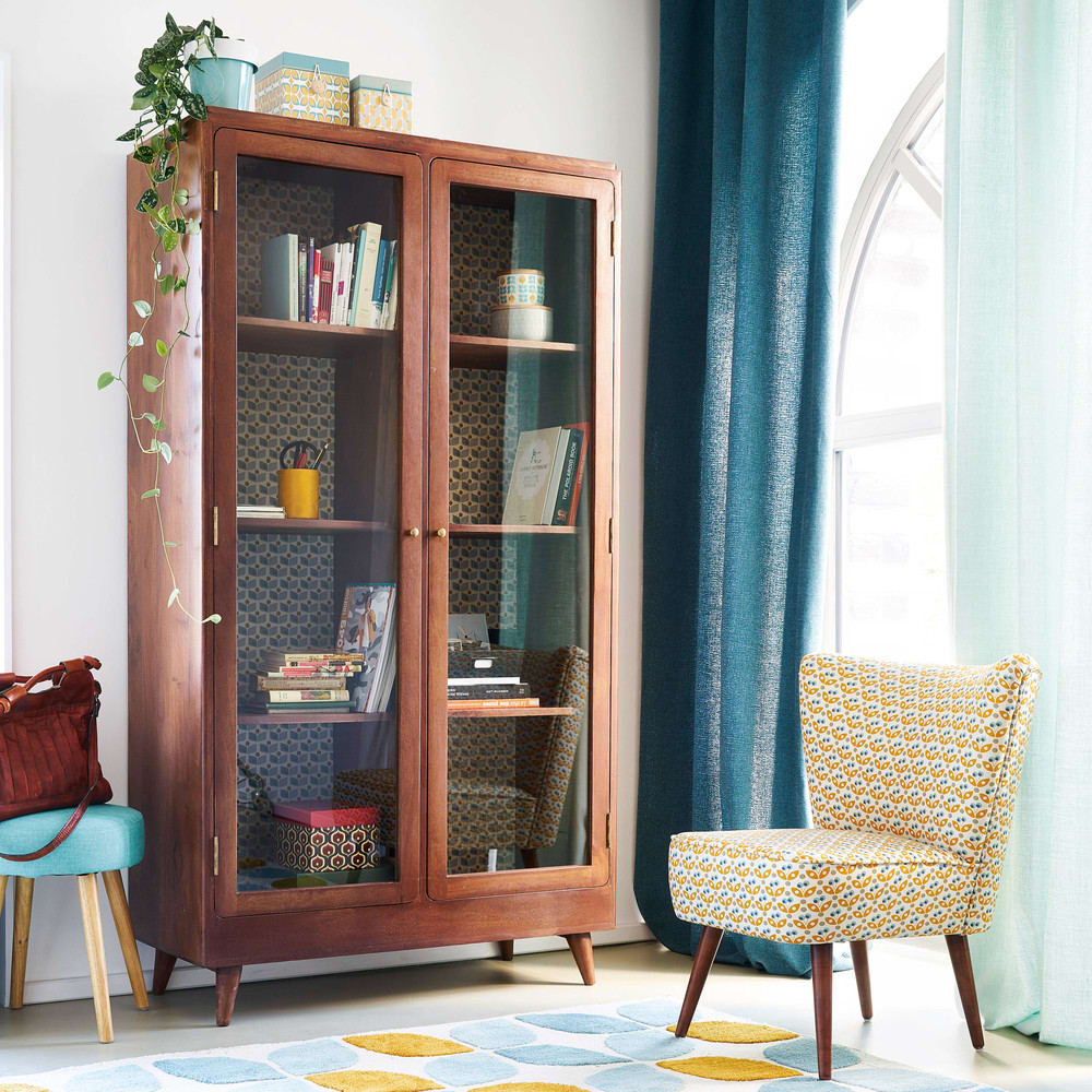 rideau illets en lin lav bleu p trole 130x300. Black Bedroom Furniture Sets. Home Design Ideas