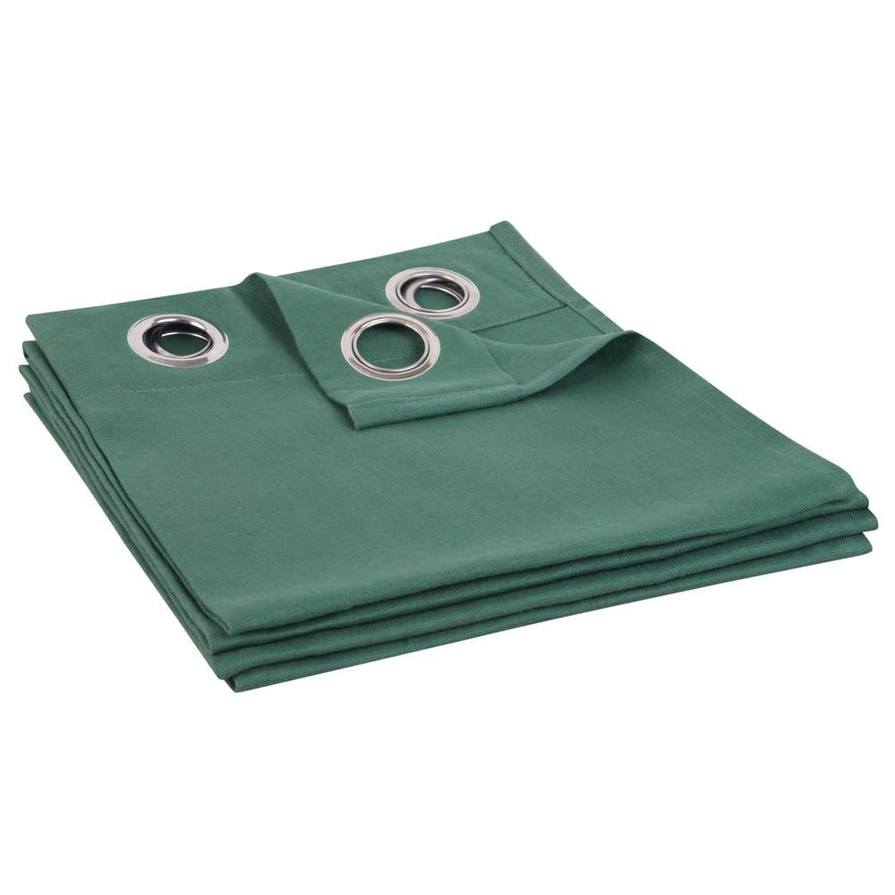 rideau illets en lin lav vert basilic 130x300. Black Bedroom Furniture Sets. Home Design Ideas