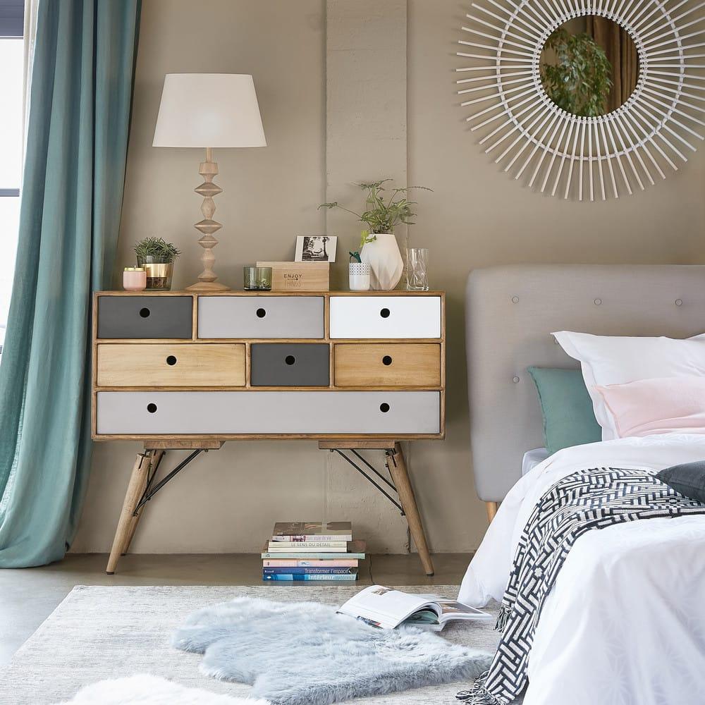 rideau illets en lin lav vert de gris 130x300. Black Bedroom Furniture Sets. Home Design Ideas