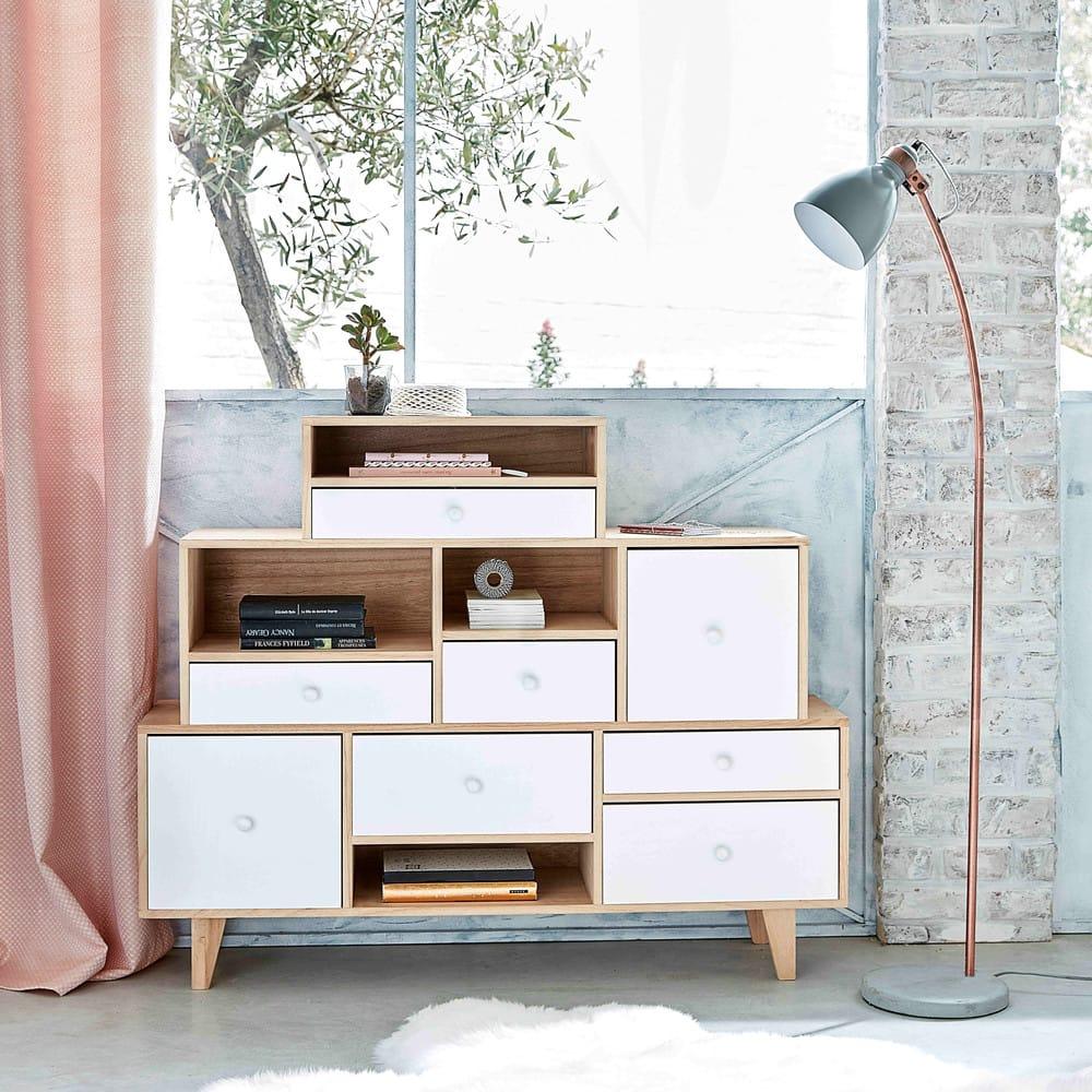 rideau illets en lin lav vieux rose 130x300 maisons. Black Bedroom Furniture Sets. Home Design Ideas