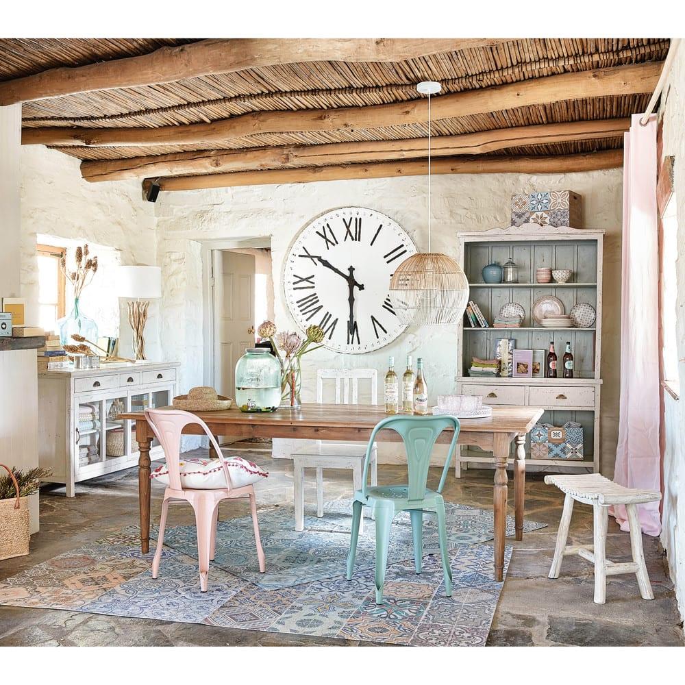 rideau illets en lin lav vieux rose l 39 unit 130x300. Black Bedroom Furniture Sets. Home Design Ideas
