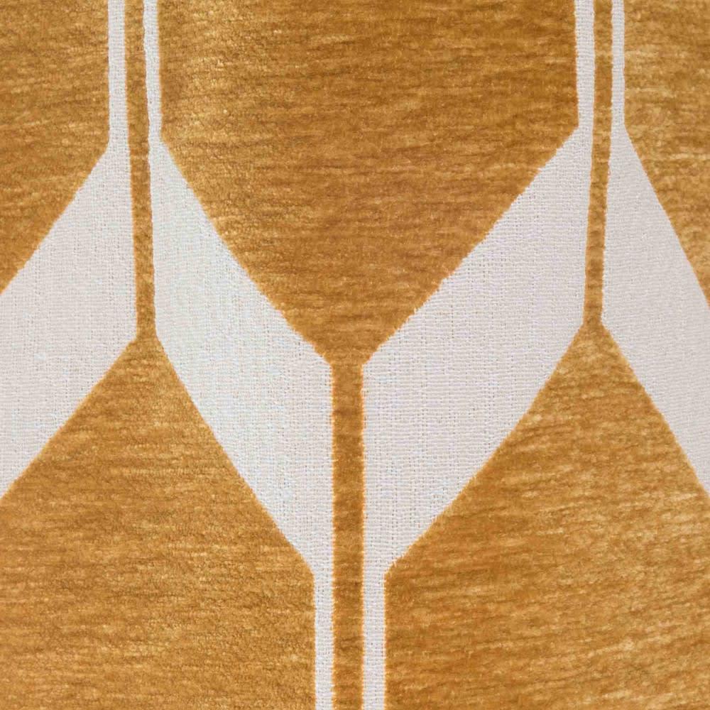 rideau illets graphique jaune moutarde et blanc 140x300. Black Bedroom Furniture Sets. Home Design Ideas