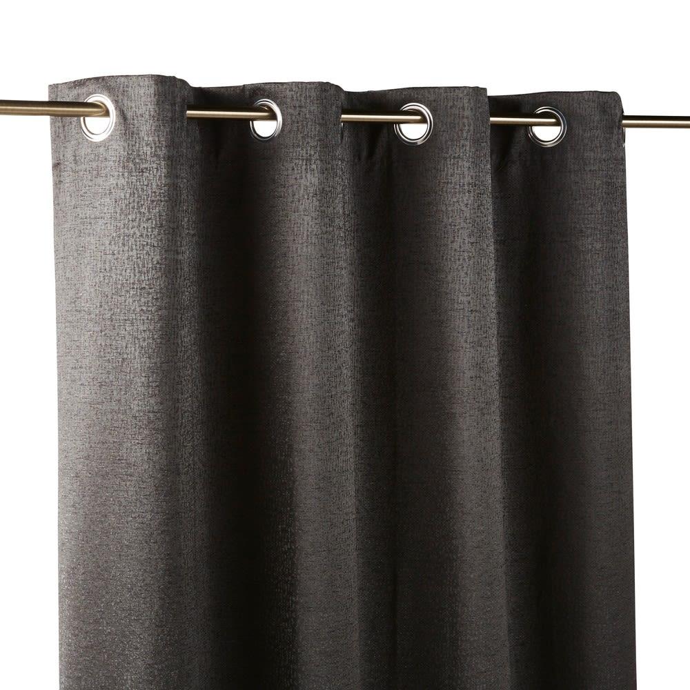 rideau illets gris anthracite 140x300 madison maisons. Black Bedroom Furniture Sets. Home Design Ideas