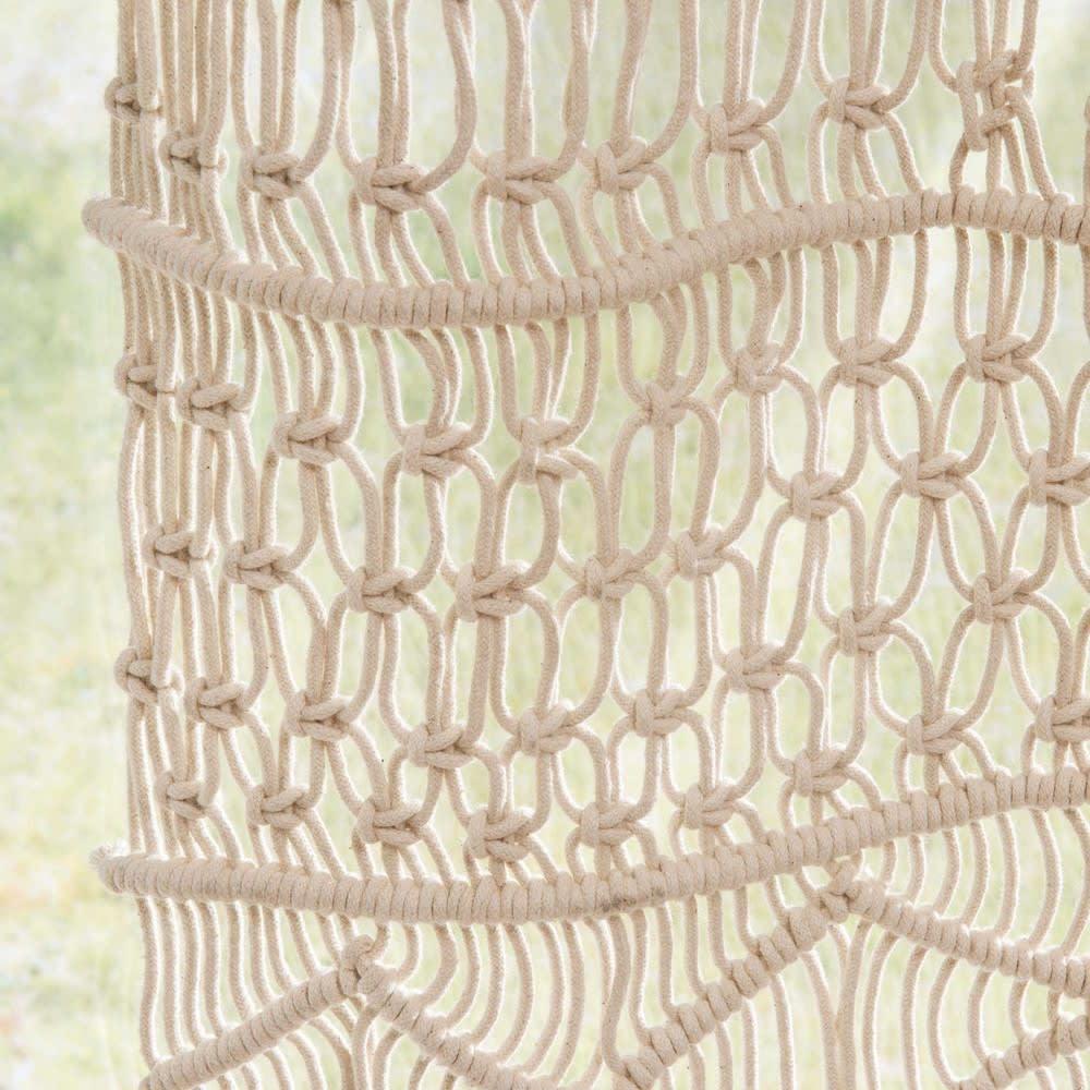 Rideau Macramé En Coton écru 105x250 Macrama Maisons Du Monde