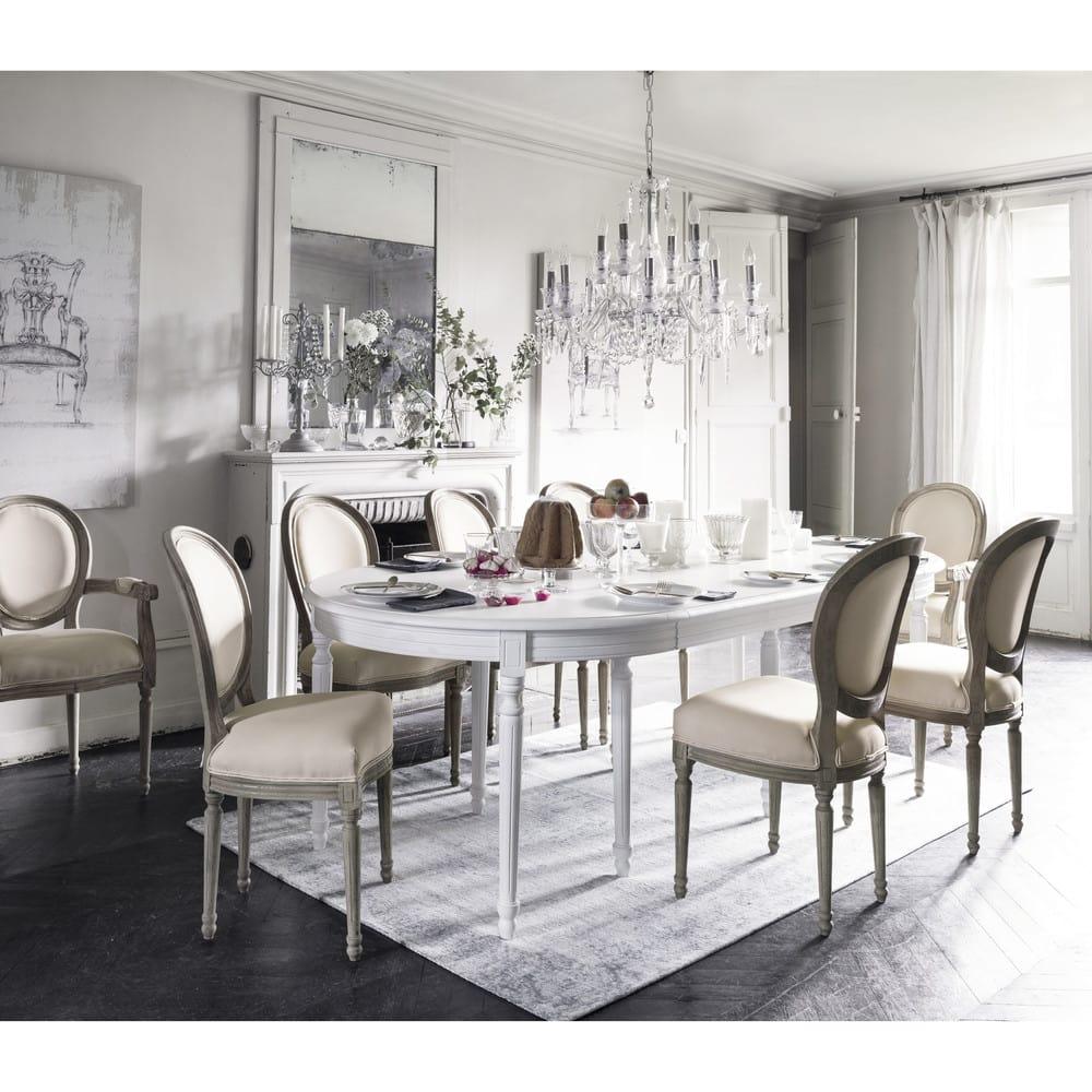 Ronde Witte Tafel 120 Cm.Ronde Wit Berkenhouten Uitschuifbare Eettafel Voor 4 A 14 Personen B