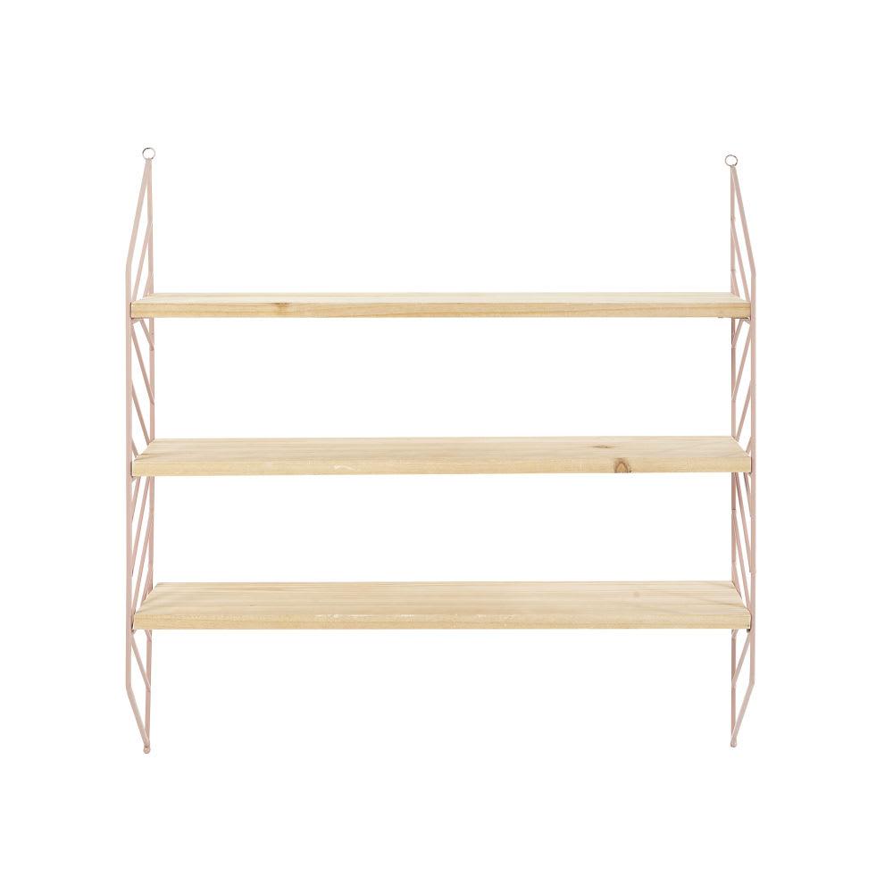 rosa wandregal aus kiefernholz und metall charlie maisons du monde. Black Bedroom Furniture Sets. Home Design Ideas