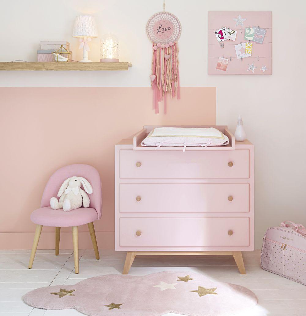 rose vintage kinderstoel en massief berkenhout mauricette. Black Bedroom Furniture Sets. Home Design Ideas