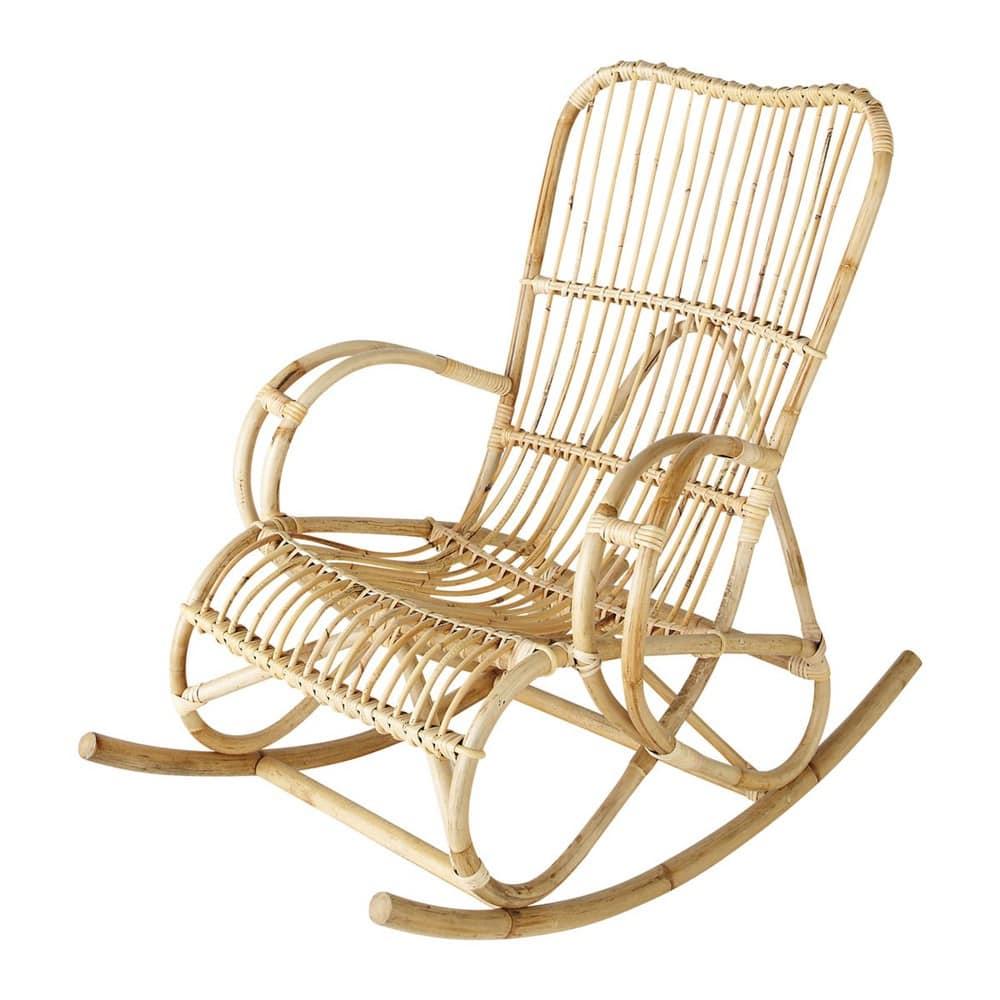 Kussen Voor Rotan Schommelstoel.Rotan Schommelstoel Louisiane Maisons Du Monde