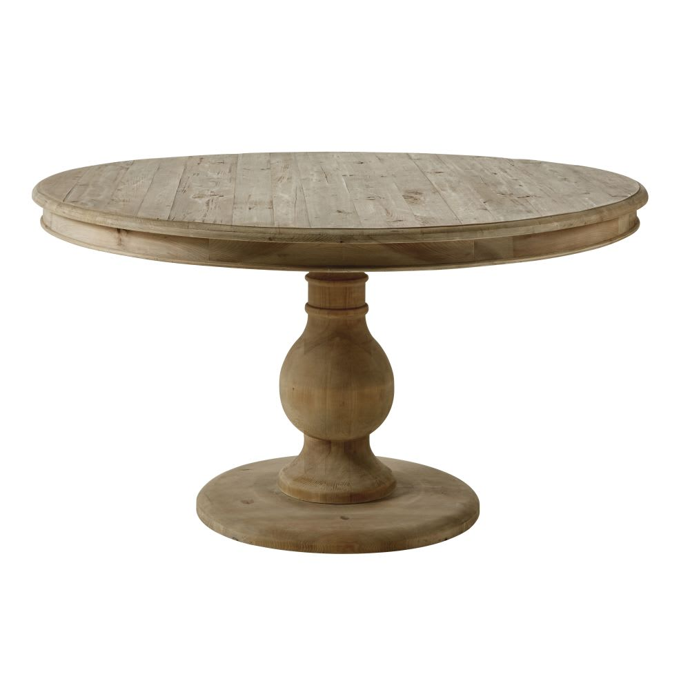 6 Seater Round Dining Table: Round Recycled Pine 6-7 Seater Dining Table D140 Spinoza