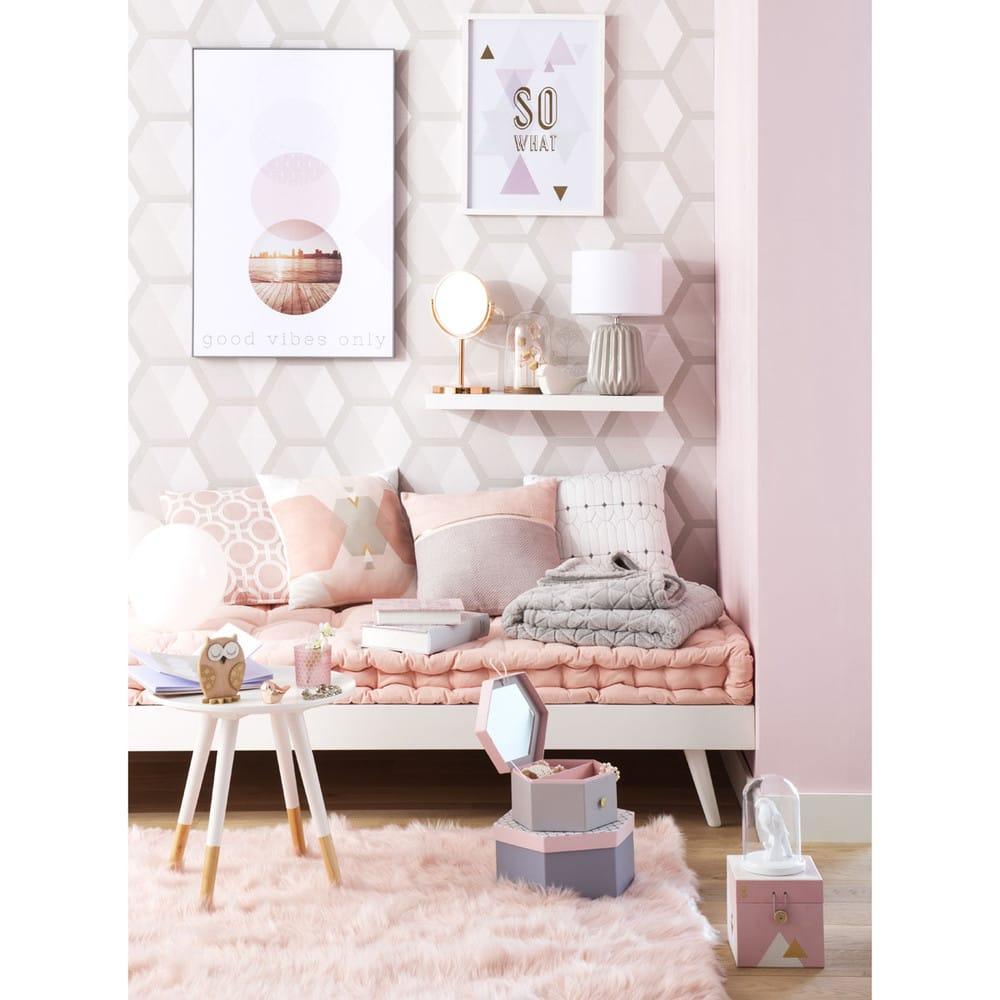 roze katoenen sixties matras 90 x 190 cm maisons du monde. Black Bedroom Furniture Sets. Home Design Ideas