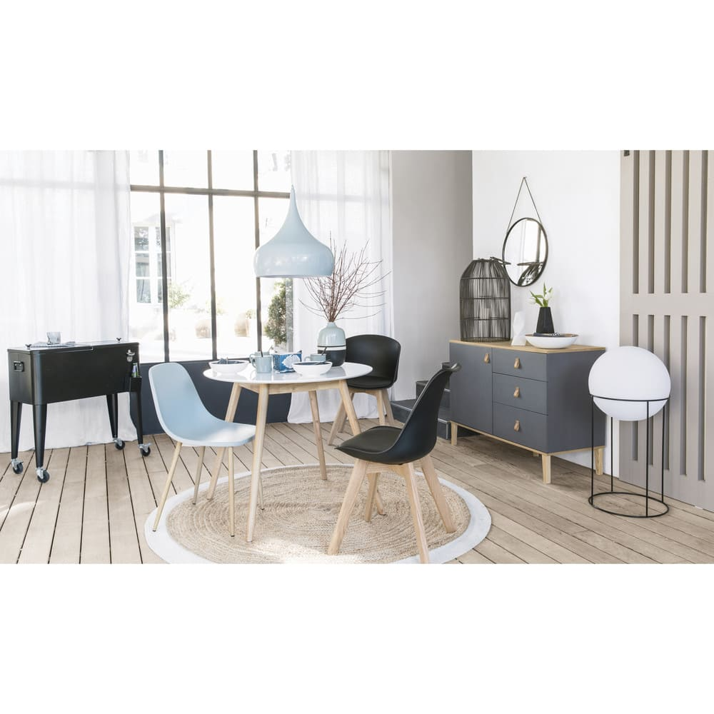 runder esstisch 4 personen d90 wei spring maisons du monde. Black Bedroom Furniture Sets. Home Design Ideas