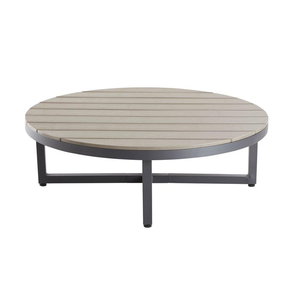 Runder Gartentisch Aus Verbundmaterial Und Aluminium Escale