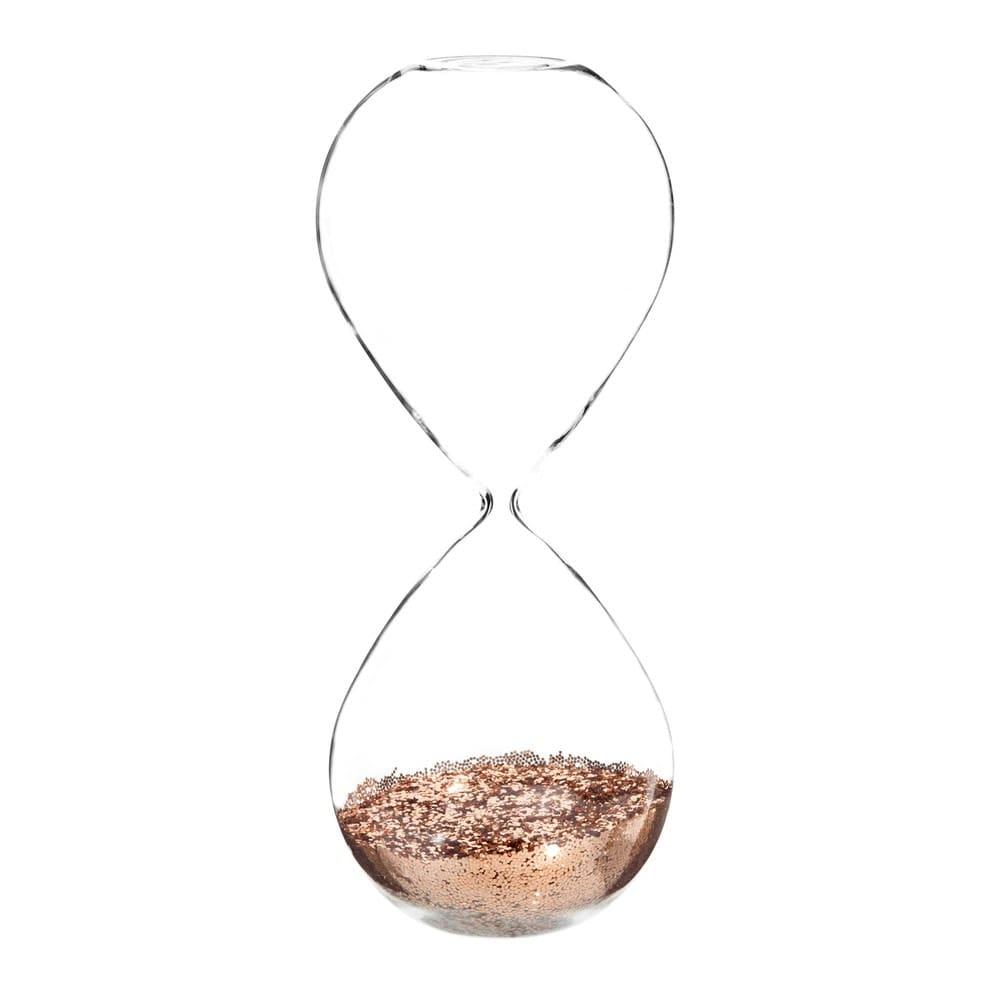 Sablier à paillettes en verre H 25 cm Copper | Maisons du Monde