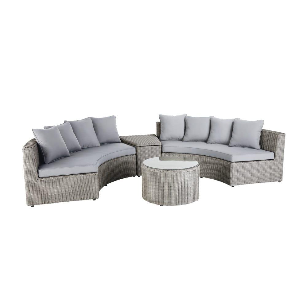 Salon De Jardin Tress Gris. Cool Garden Furniture Seater Hippolyte ...